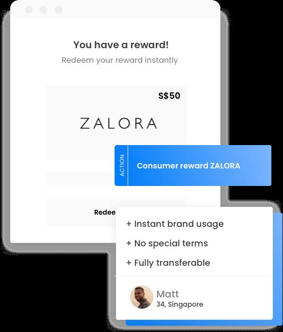 Gift card reward program