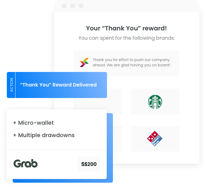 Reward gift card